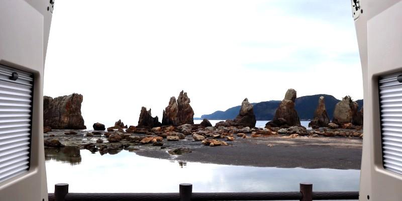 三重和歌山の早春旅 橋杭岩