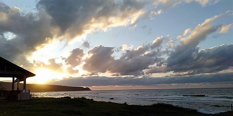 北海道東北旅2020 神威岬に落ちる夕陽