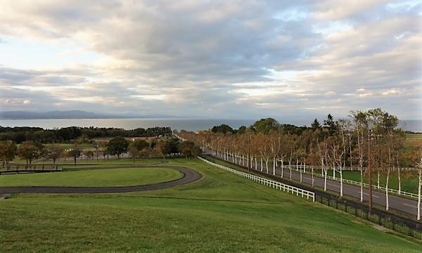 北海道東北旅2020 八雲町・噴火湾パノラマ館からの景色