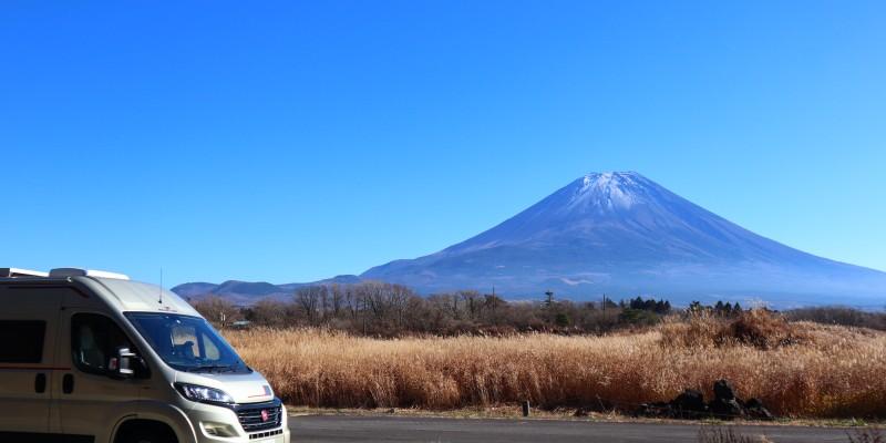 山梨静岡・ゴルフと温泉旅2020 富士とキャンピングカー