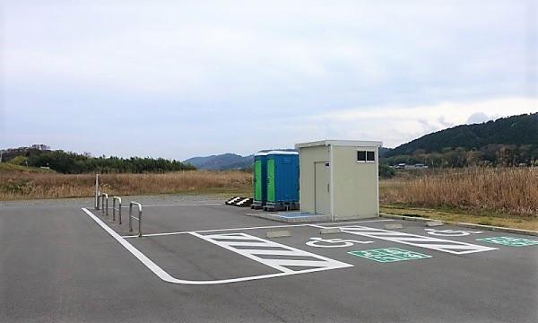 2021近畿~山陰大横断の春旅 たまき水辺の楽校 駐車場とトイレ