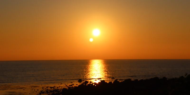 2021みちのく夏紀行 日本海の夕陽
