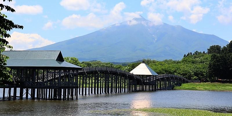 2021みちのく夏紀行 岩木山と鶴の舞橋